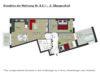 Edel wohnen in den Nymphenburger Innenhöfen - 3-Zimmer-Wohnung im 5.OG mit 2 Balkonen - NYL - Grundriss Whg. 8.5.1
