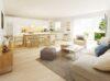 Riesen Gelegenheit in den IsarDocks, Sonnige 4-Zimmer-Wohnung mit Top Ausstattung zum Erstbezug nahe der Isar! - Isardocks_Wohnzimmer Illu