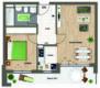 ERSTBEZUG: Sonniges Wohnjuwel in Altperlach - 2-Zimmer-Wohnung mit großem Süd-Balkon - GH -Grundriss Whg. Nr. 390