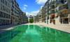 Edel wohnen in den Nymphenburger Innenhöfen - 2-Zimmer-Wohnung im 4. OG mit 2 Balkonen - Blick vom Innenhof zu den Häusern
